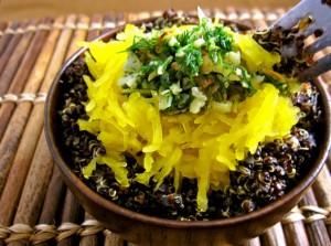 Quinoa with spaghetti squash