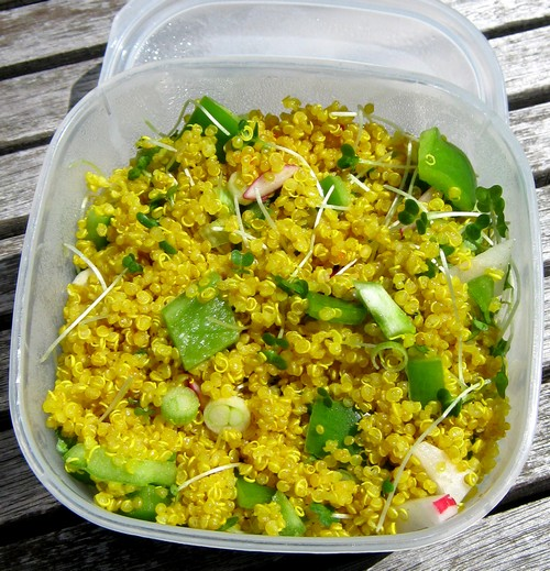 Potty Saffron Quinoa Salad